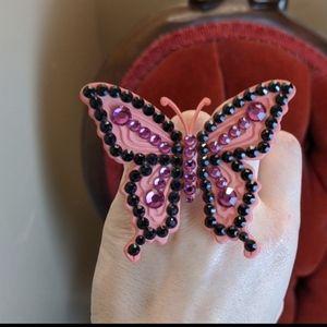 Tarina Tarantino large Electric Butterfly purple